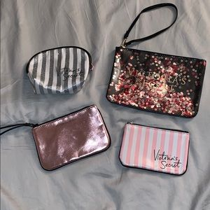 Lot of VS Makeup pouches